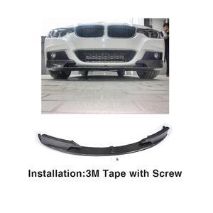 Для BMW 3 серии F30 F31 M Sport 2013 - 2017 автомобильный передний бампер спойлер разветвители крыльев углеродное волокно/FRP черный