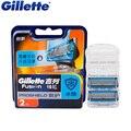 Оригинал Gillette Fusion Proshield Flexball Бритвы для Бритья Лезвия С Прохладный Фактор Для Мужчин Бритья Лезвия 2 Шт./упак.