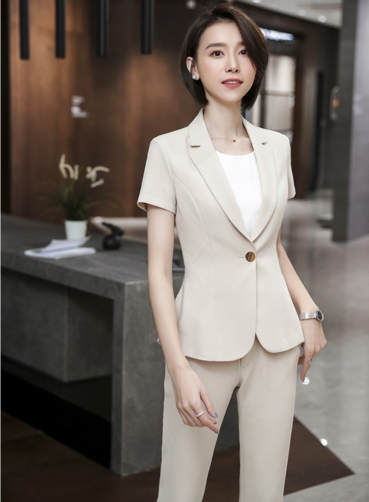 Formal Women Blazers Uniform Designs Pantsuits With Pants And Tops For Ladies Office Work Wear Professional Trousers Sets