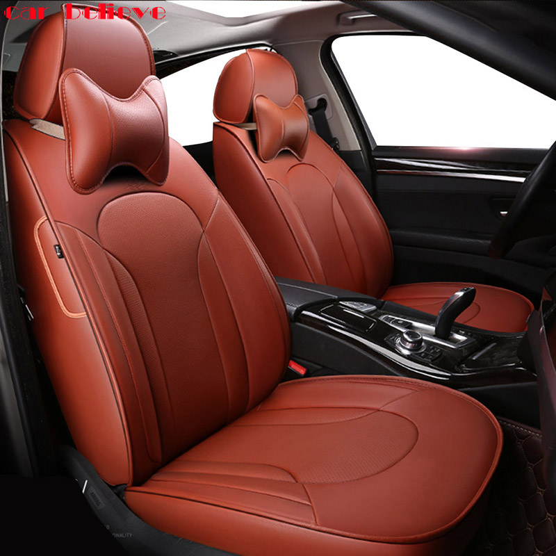 Car Believe Auto automobiles Cowhide leather Car seat cover For Jaguar XF XE XJ F-PACE F-TYPE XJL Car accessories car styling коврики для автомобиля skawa xf xjl xk