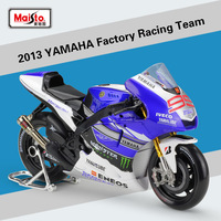 1Pcs Maisto 1:10 2013YAMAHA Factory Racing Team Diecast Metal Model Sport Race Motorcycle Model Motorbike For Collectible