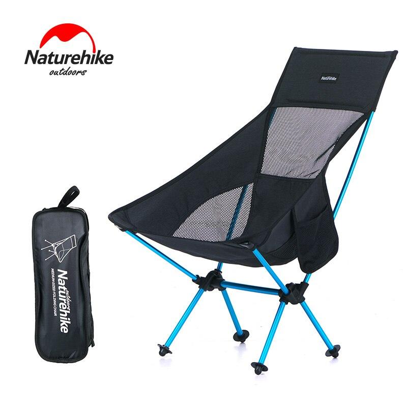 Naturehike Léger Heavy Duty Haute Retour Pliant chaises de camping Portable Pliable Pique-Nique Pliante Chaises fauteuil de pêche