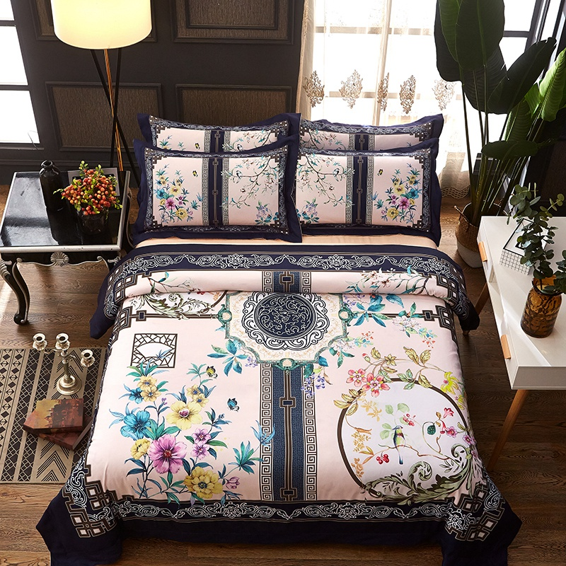 Ensemble de literie d'impression numérique de luxe Mandal bohême style lit ensemble couette couvre doux literie pour la maison