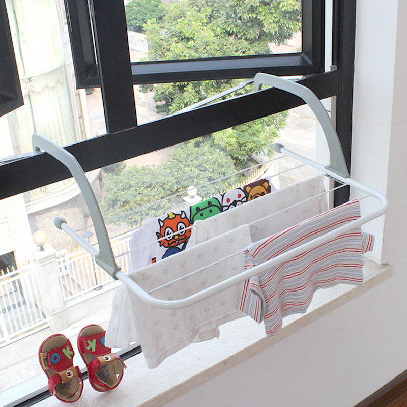 Metal Hook Type Folding Drainer Shelf With 5 Layered Towel Holder Storage  Rack For Home Camping