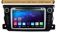 Octa-Core Android 6.0 Car Dvd Gps Navi Audio for Benz Smart 2012-2013  support WIFI, Steering wheel control