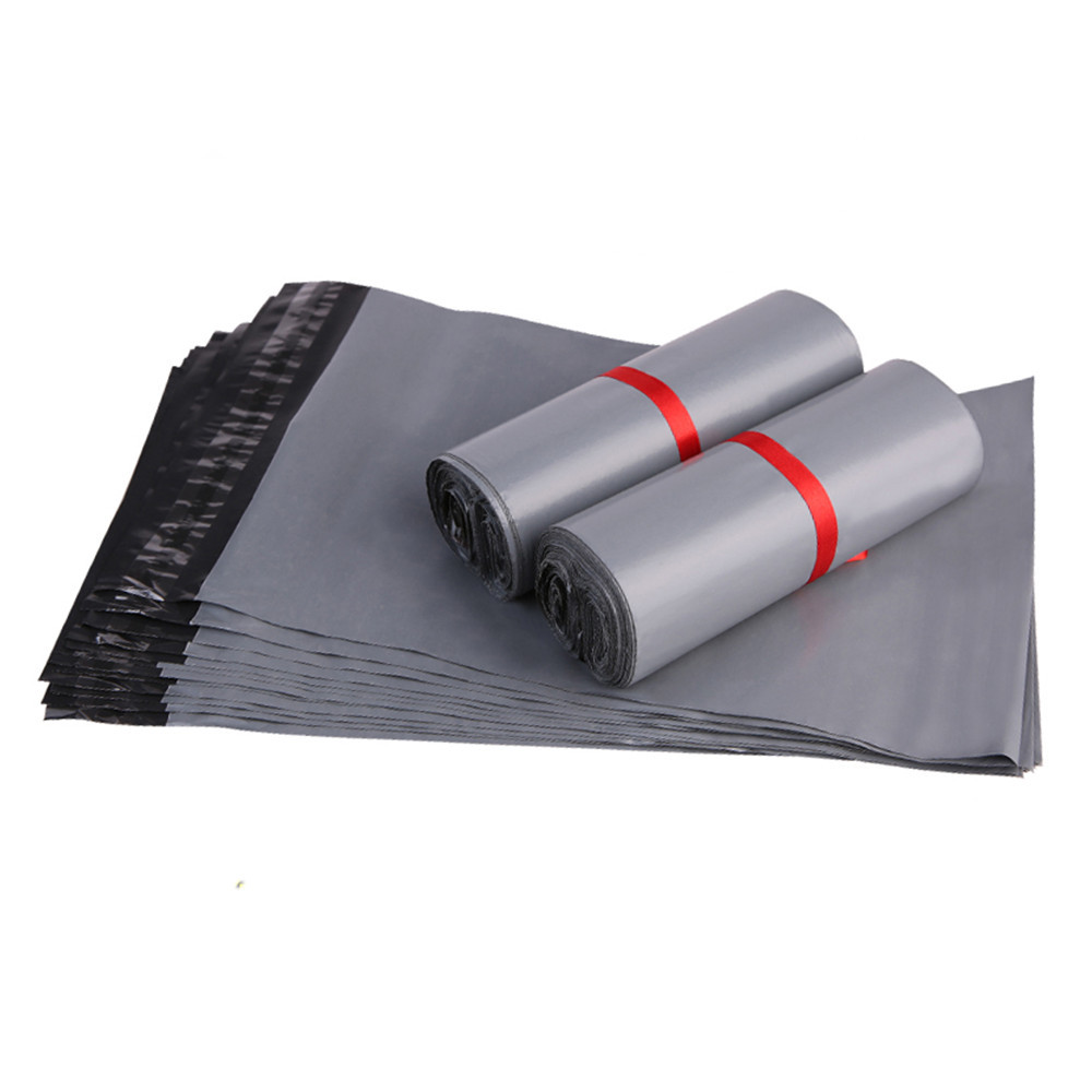 DHL 600Pcs/Lot Gray Poly Mailing Pack Pocket Soft Plastic Mailers Bag Express Envelope Express Courier Mailer Packing Bags
