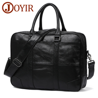 JOYIR Genuine Leather Bag Business Men Bags Laptop Tote Briefcases Messenger Crossbody Bags Shoulder Handbags Leather Men's Bag