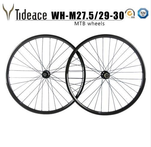 Roues vtt Super légères 26er/27.5er/29er en fibre de carbone roues de vélo VTT roues 711 & 712 ou 771 & 772 moyeux frein à disque