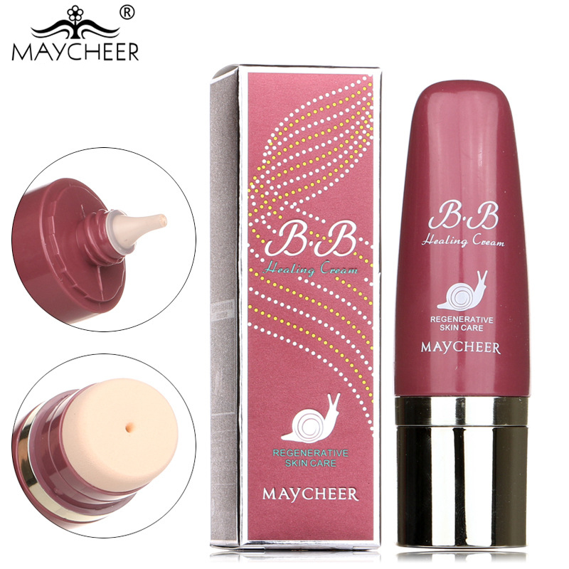 MAYCHEER Snail essence repair multi effect Face Skin Care Isolation moisturizing nude Foundation BB Cream Improve skin quality image