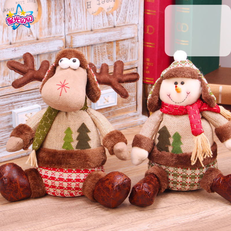Hot sale Christmas Decoration Cute Sitting doll ornaments Festival New Year Dinner PartyChristmas Decorations for Home Dress