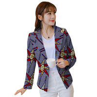Personal Tailor Women Retro African Ceremonial Blazer Female Pattern Printed Suit Outwear Outfits Lady Dashiki Clothes