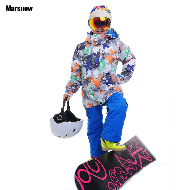 Dropshipping Brand Free Shipping Thicken Kids girls Boys Snow suits Set -30 Degree winter ski jacket and ski pants for children 2016 new brand children snow runner self balance scooter snow bicycle for kids ski kits