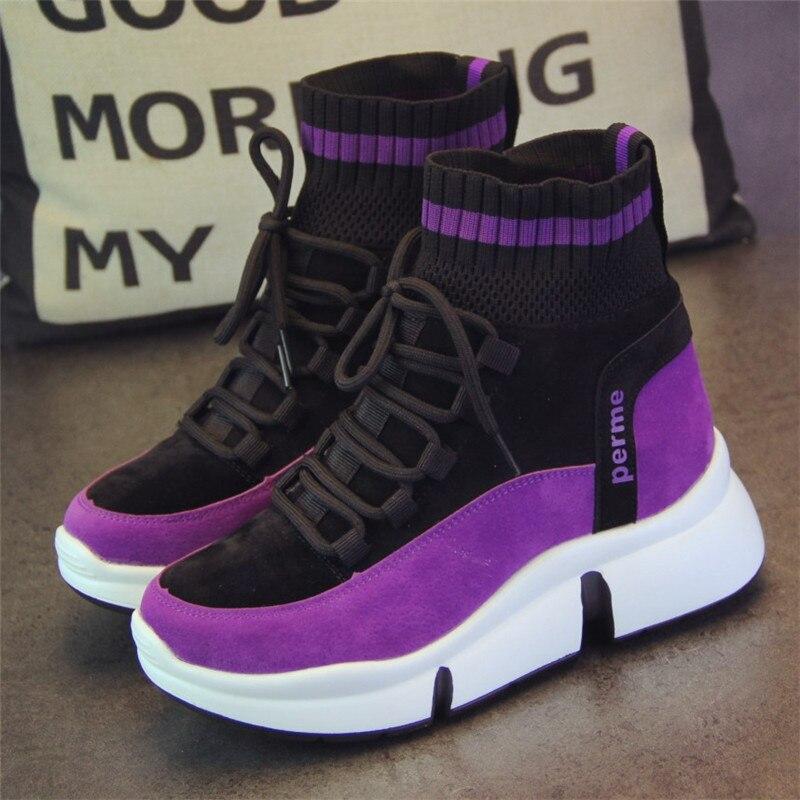 XJRHXJR marque chaussures femmes Designer baskets chaussures décontractées 2019 haut femmes appartements chaussures de marche chaussures vulcanisées 40 - 5
