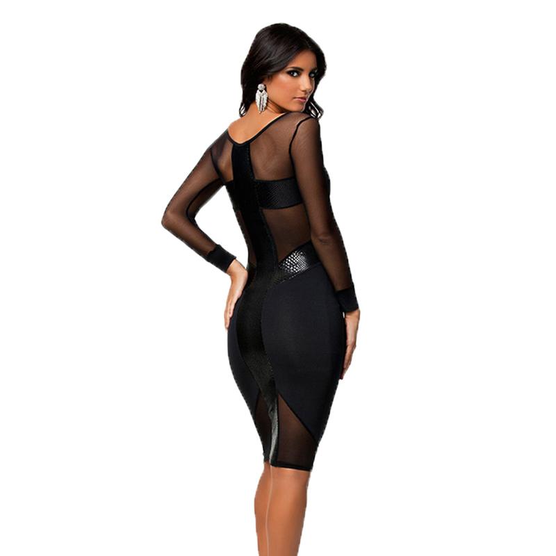 Popular Sheer Black Dress-Buy Cheap Sheer Black Dress lots from ...