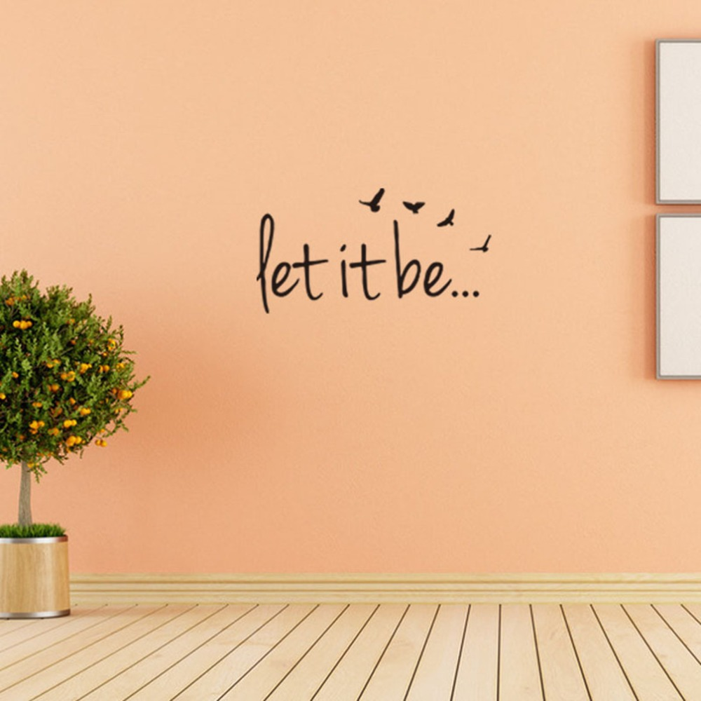 1 X Let it be Vinyl Wall Art Inspirational Quotes Home Decor Sticker ...