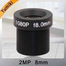 """Yumiki กล้องวงจรปิดเลนส์ F2.0 M12 * 0.5 8 มิลลิเมตร 45 องศากล้องวงจรปิดเลนส์สำหรับ 1/3 """"หรือ 1/4 """"ccd"""