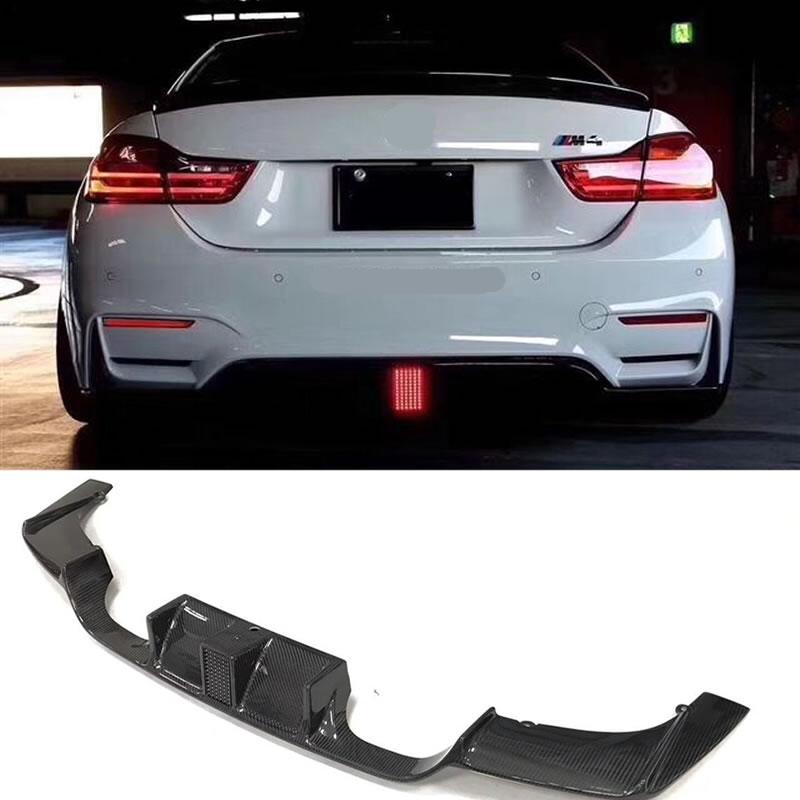 Горячие F80 M3 F82 M4 сигнальные углерода Волокно заднего бампера для губ Диффузор для BMW F80 M3 F82 M4 2014up
