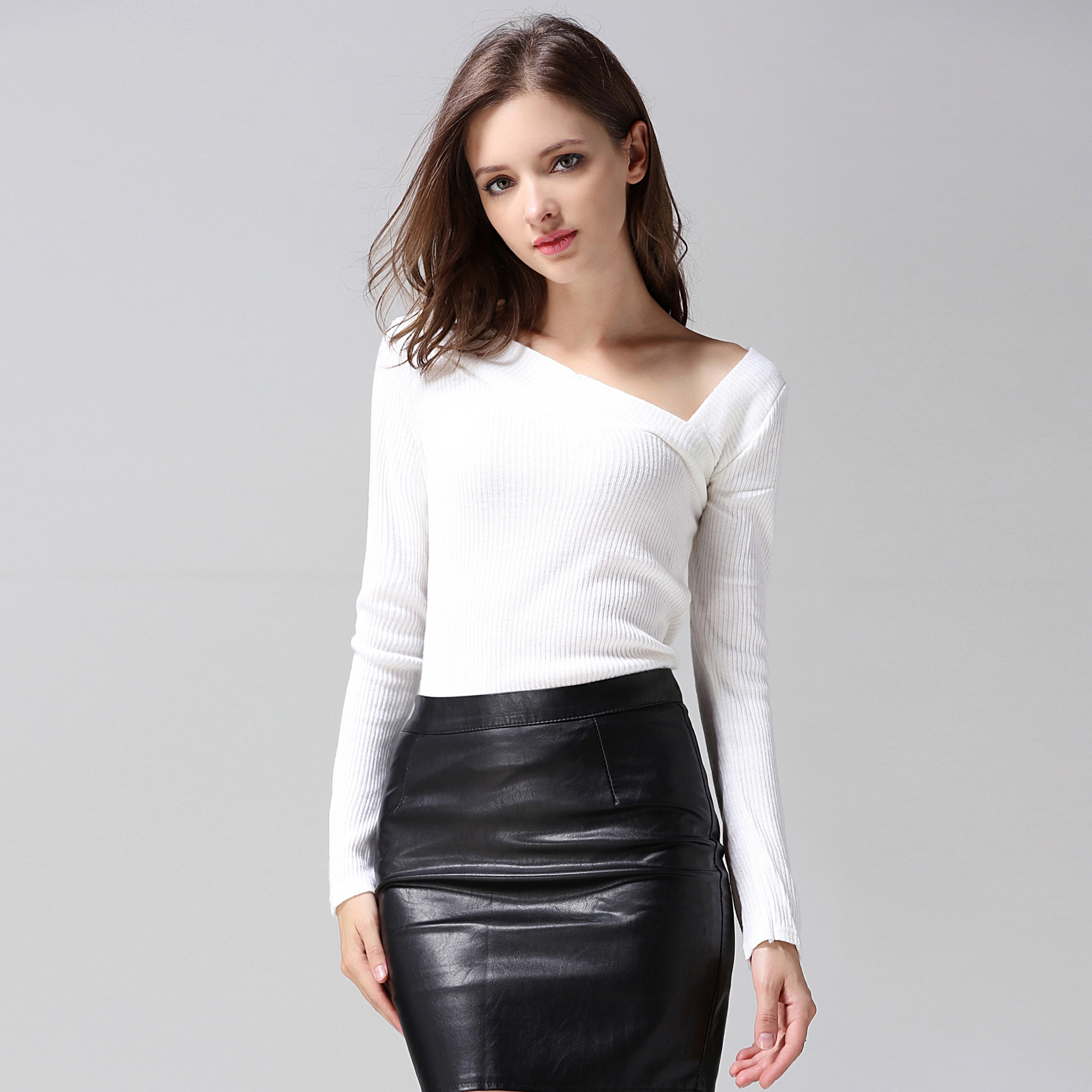 Compare Prices on One Shoulder Off Sweater- Online Shopping/Buy ...