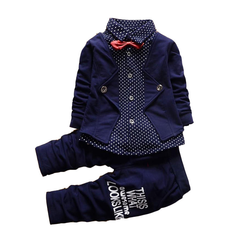 1 2 3 4 Years Fashion Boys Clothes Coat Pants 2pcs Toddler Children Clothing Set Long Sleeve Spring Autumn Kids Gentleman Suits spring autumn fashion children clothes full sleeve t shirt and pants 2pcs handsome gentleman suit boy clothing set kid tracksuit