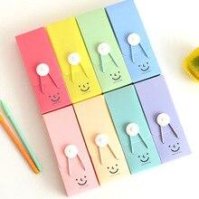 Coloffice big capacity PVC random candy color smile Hasp Pencil Case Print Cute School Supplies Pencil