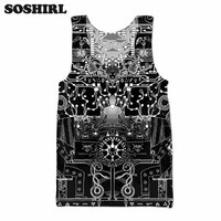 17dbcf288d781 SOSHIRL Seed Circuits Tank Top Hipster Sleeveless T Shirt Summer  Bodybuilding Black Color Tops Unisex Vest