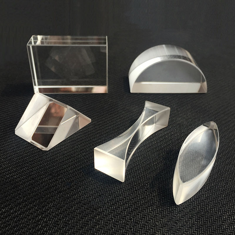 5pcs High Quality K9 Physics Optical Prisms Experimental Apparatus Glass Brick Double Convex Cylindrical Lens Half Cylinder Lens5pcs High Quality K9 Physics Optical Prisms Experimental Apparatus Glass Brick Double Convex Cylindrical Lens Half Cylinder Lens