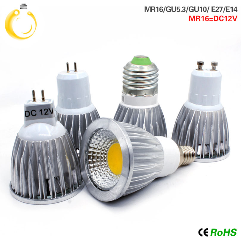 COB Led Spotlight 9W 12W 15W Led Lights E27 E14 GU10 GU5.3 220V MR16 12V Cob Led Bulb Warm White Cold White Lampada Led Lamp(China)