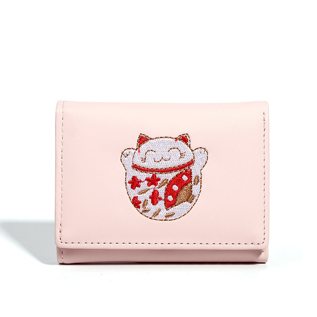 828effa33f60 US $4.15 20% OFF|New Designer Pu Leather Cute Small Women Wallets Hasp  Short Coin Purses Credit Card Holder Money Bag Clutch Wallets Female QL-in  ...
