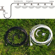 Outdoor Low Pressure Misting Cooling System Kit for Garden Patio Watering Irrigation Fog spray Lines 6 M-18 M
