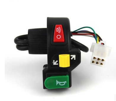 upgrades motorcycle electric motor car accessories three-in-one Turn left right switch on-off headlamp, horn switch push button 5pcs lot high quality 2 pin snap in on off position snap boat button switch 12v 110v 250v t1405 p0 5