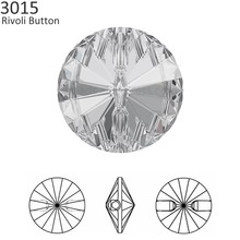 (1 piece) 100% Original Crystal from Swarovski 3015 Round Crystal Buttons  rhinestone DIY cc46457b1cb5