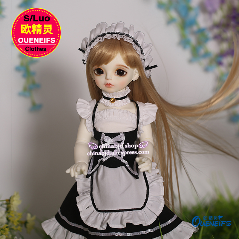 OUENEIFS  girl The maid outfit maidservant skirt 1/4 bjd sd doll customization clothes , have not bjd sd doll or wig YF4-63 oueneifs girl long skirt pink lace dress free cappa bjd sd clothes 1 4 body clothes yf4 47 luts volks ip switch fairyland