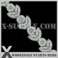 Bridal-Trimming for Wedding-Sash Headband Shoe Rhinestone Applique Crystal