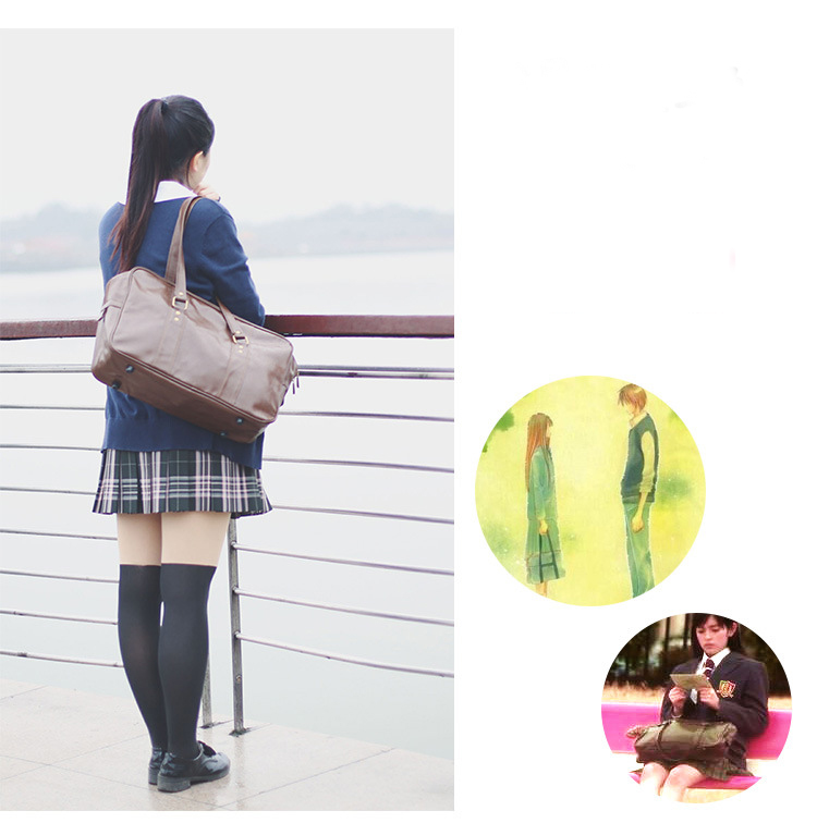 Japonês harajuku jk uniforme cosplay saco princesa