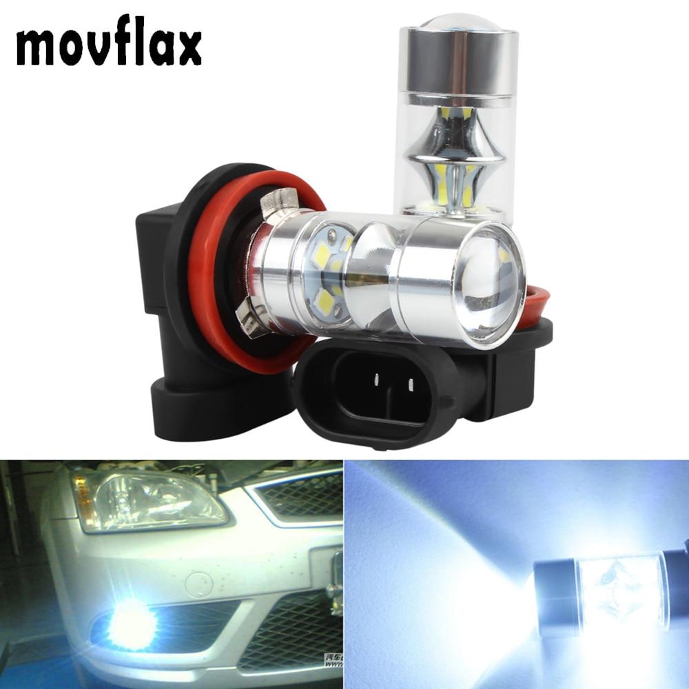 2 unids! Super blanco H8 H11 60 W auto niebla bombilla lámpara de conducción 12-smd 2323 Led Drl daytime Correr Luz