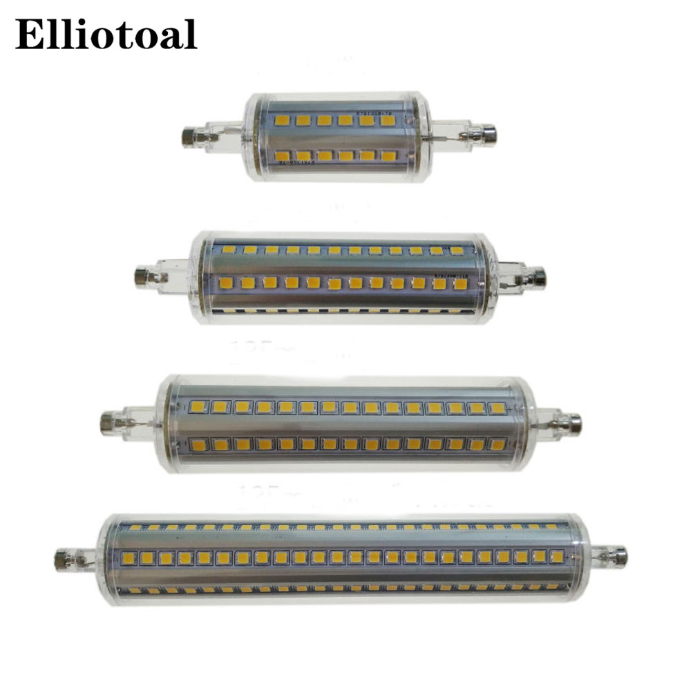 Dimmable r7s led 10 W 118mm 360 degrés 5 W 78mm lampadas led r7s ampoule 12 W 135mm 15 W 189mm remplacer lampe halogène 25mm diamètre