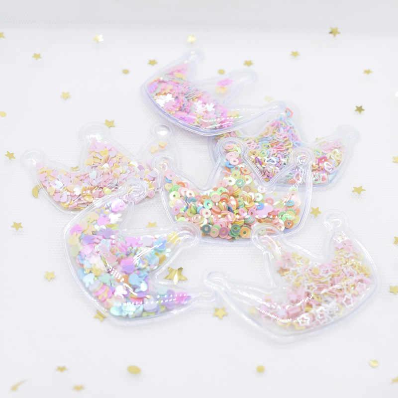 12 piezas de relleno de varios estilos de lentejuelas apliques corona parches para DIY pastel Topper sombrero ropa para el pelo Clips accesorios H07