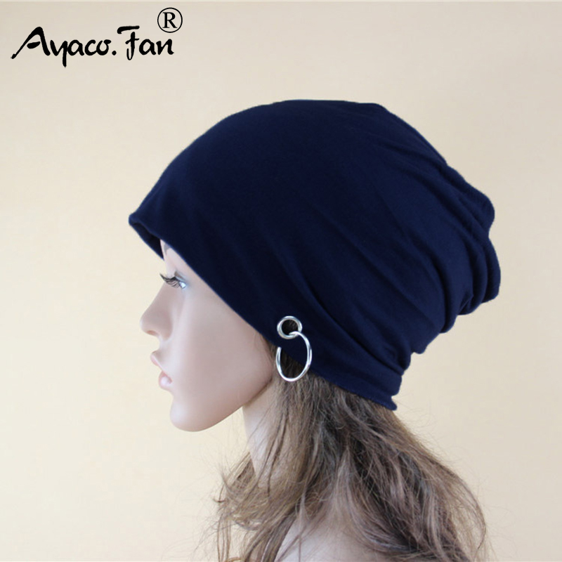 Autumn Winter Knit Caps for Women Men New Cute Casual   Beanies   Solid Color Snap Slouch   Skullies   Bonnet   Beanie   Knitted Hat Gorro