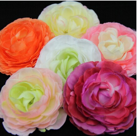 100Pcs /lot 7CM Diameter Multi Color Tea Rose Head Silk Wedding Decoration Home Decor Centerpiece Artical Flowers