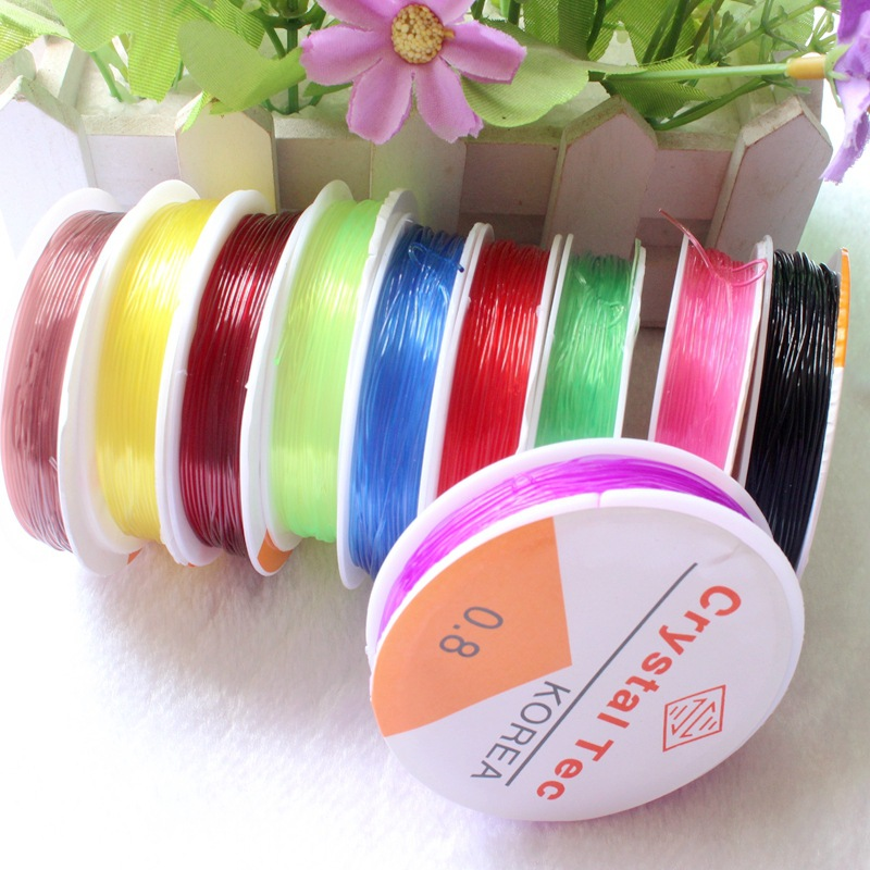 1 Roll 0.6mm 0.8mm 1.0mm Colorful  Stretch Elastic Beading Rope Cord/String/Thread DIY For Jewelry Making Bracelet Necklace Cord