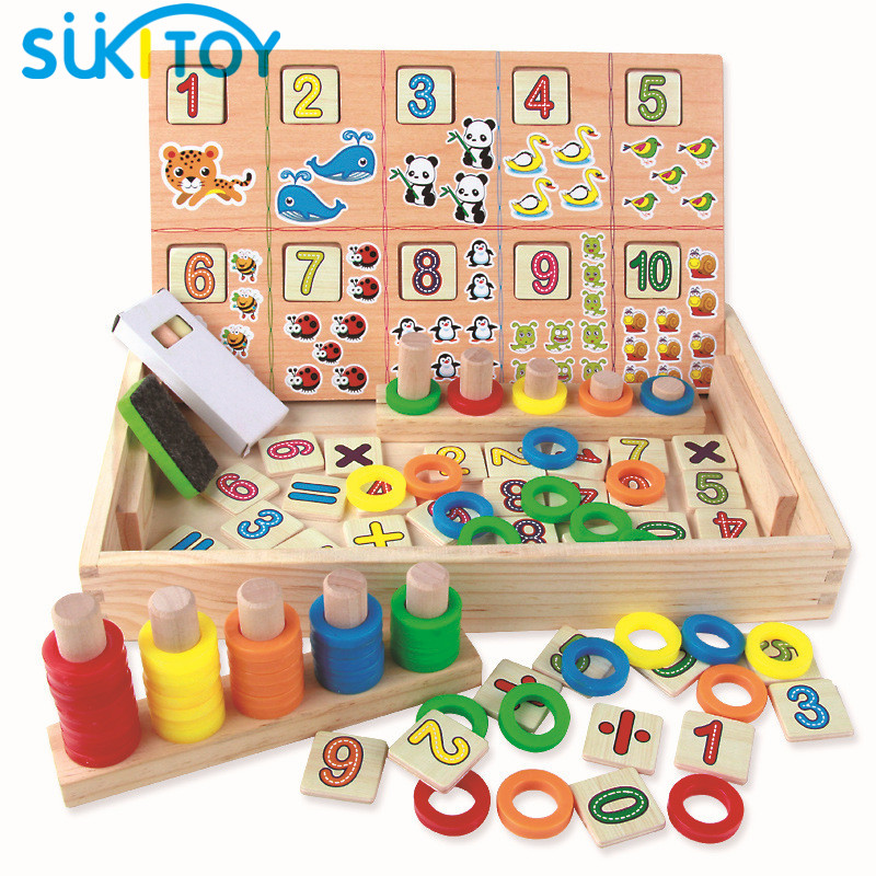 Montessori Wooden Math Kids Leker For Preschool Barn Inkludert Black Board Oyuncak Brinquedos Juguetes Brinquedo Oyuncaklar