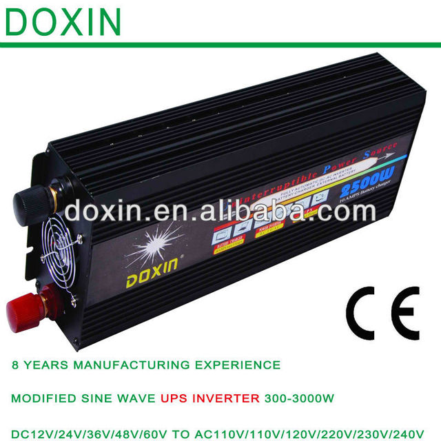 dc to ac 12v to 220v  frequency ups power inverter with charger 2500Watt