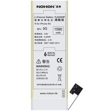 1590mAh High Capacity Original Chip NOHON Li-ion Polymer Flagship Version Battery For Apple iPhone 5 With Tools