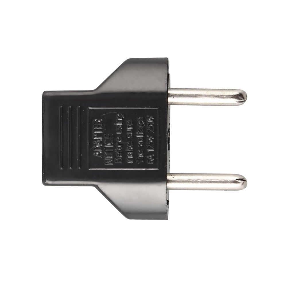 1 шт. адаптер штепсельной вилки ЕС 2 Pin в ЕС 2 круглые штырьковые штепсельные вилки электронный цифровой переходник для вилки евро