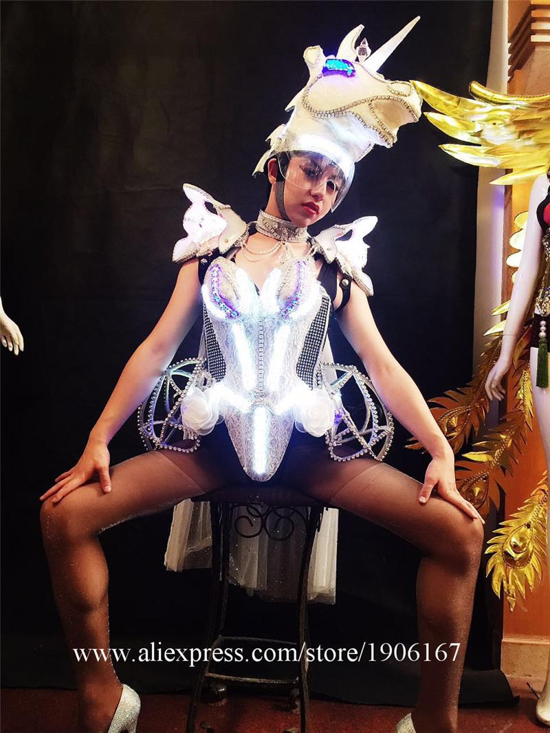 Led luminous horse costume flashing ballroom stage clothes10