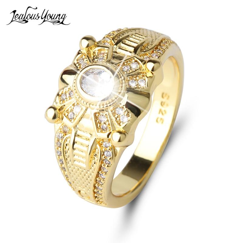 Hingebungsvoll Vintage Edelstahl Gold Farbe Mode Männer Ring Inlay Runde Zirkon Kristall Ringe Männer Schmuck Hochzeit Ring Partei Geschenk Anillos Duftendes In Aroma