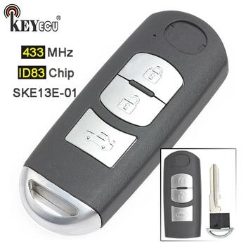 KEYECU 433 МГц ID83 чип FCC: SKE13E-01 замена 3 кнопки умный дистанционный ключ-брелок от машины для Mazda 3 6 2014 2015 2016 2017