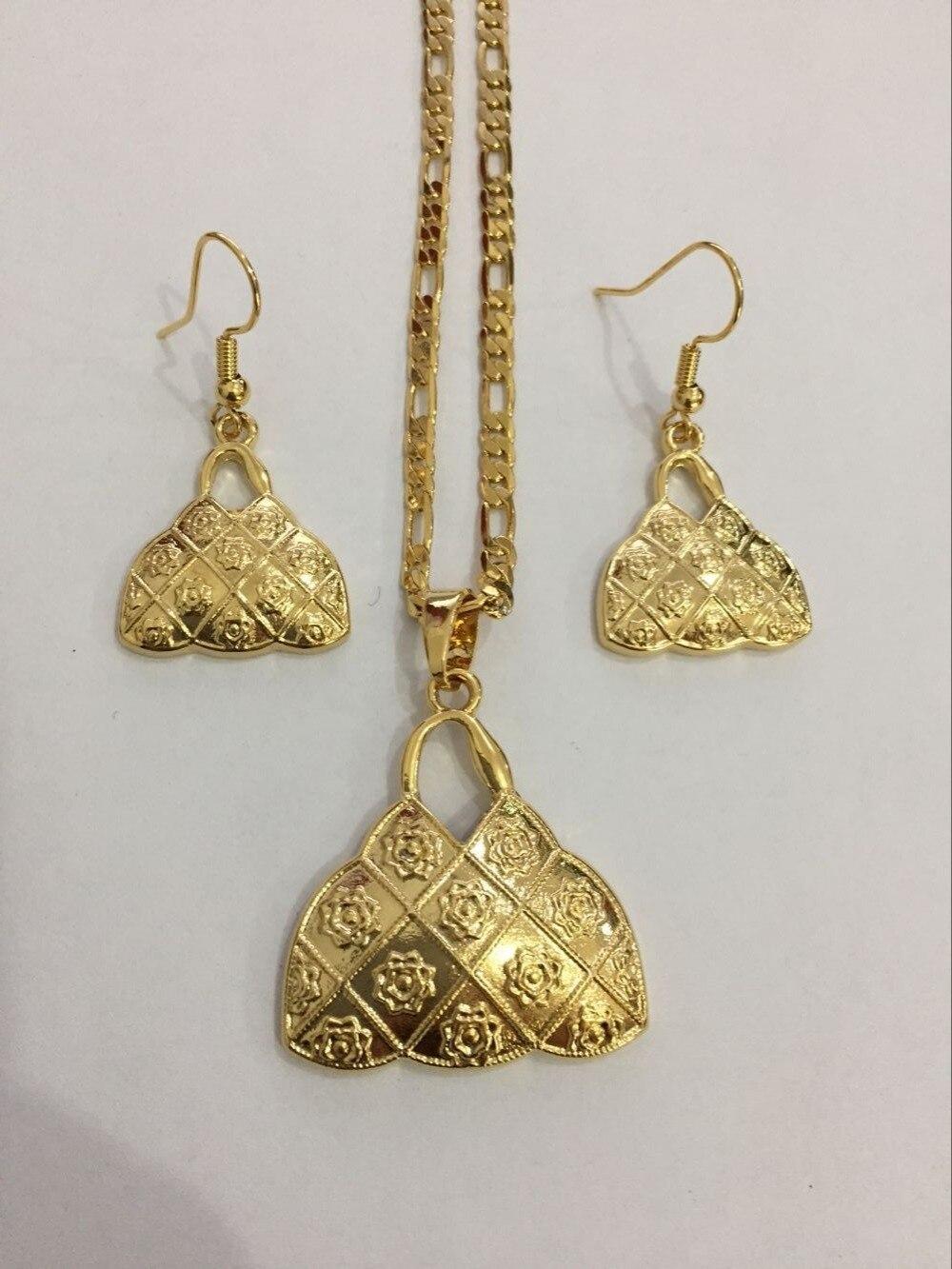 4d7c13acba1b Сумка ручной работы P house endan ожерелья серьги золотистого цвета комплект  ювелирных изделий из драгоценных камней