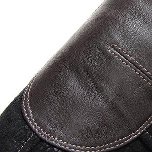 Image 5 - Gours Winter Echtem Leder Jacken für Männer Schwarz Schaffell Pilot Jacke und Mäntel Warme Doppel konfrontiert Flug Anzug Neue 4XL