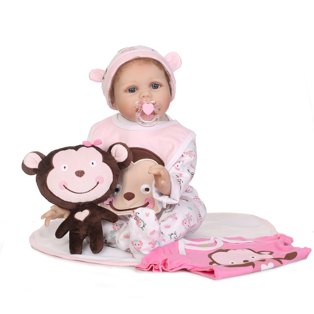 22 Silicone Vinyl Reborn Dolls fake  infant Babies 55 cm Reborn realistic real looking baby doll Toys Kids Birthday Gifts 22 Silicone Vinyl Reborn Dolls fake  infant Babies 55 cm Reborn realistic real looking baby doll Toys Kids Birthday Gifts